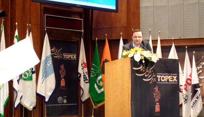 رئیس هیأت مدیره و مدیرعامل سازمان منطقه آزاد انزلی در جشنواره برترین شرکتهای ایران 1