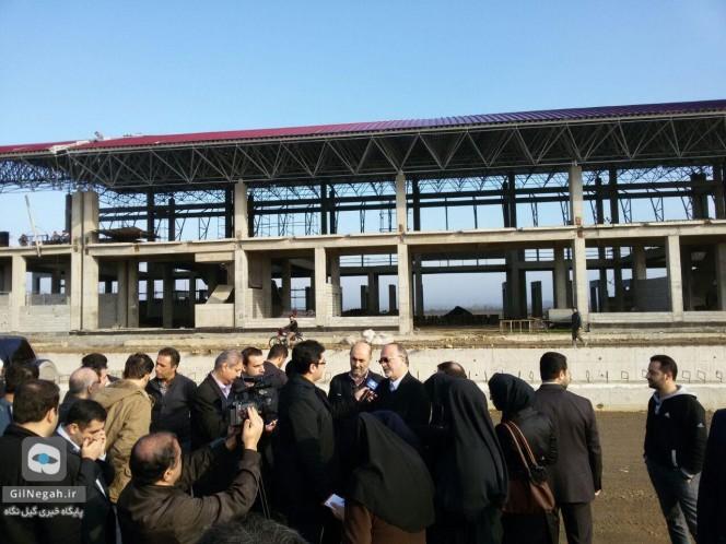 راه آهن رشت قزوین بازدید استاندار (1)