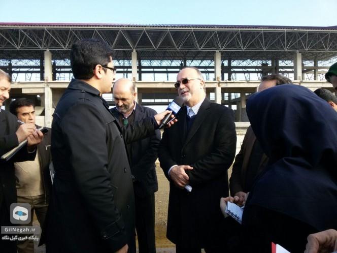 راه آهن رشت قزوین بازدید استاندار (4)