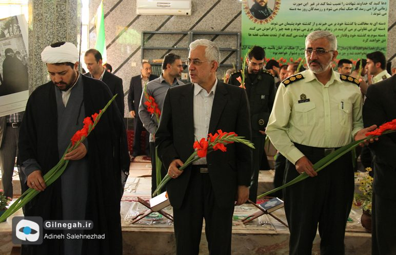 گلباران مزار شهدای لنگرود بمناسبت سوم خرداد (8)