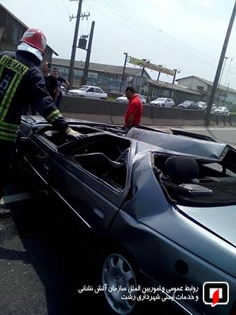 رخورد شدید دو خودروی سواری 2
