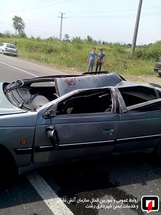 رخورد شدید دو خودروی سواری 3