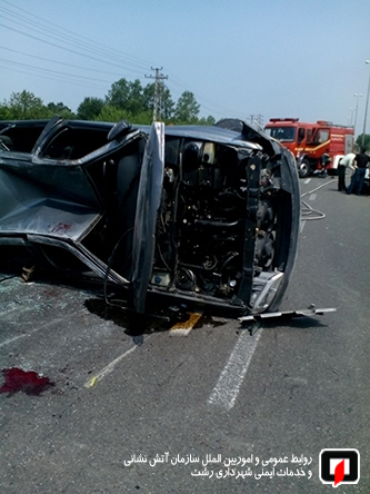 رخورد شدید دو خودروی سواری