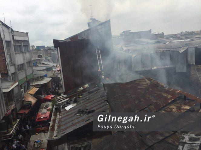آتش سوزی بازار پاساژ قدیری رشت (1)