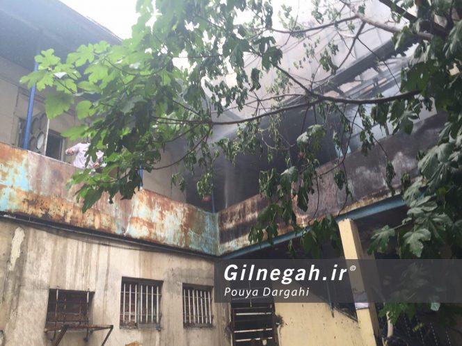 آتش سوزی بازار پاساژ قدیری رشت (2)