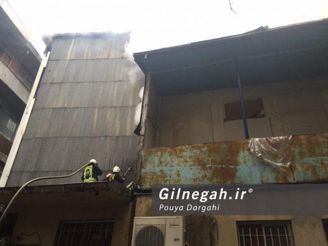 آتش سوزی بازار پاساژ قدیری رشت (3)