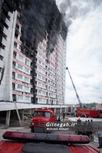 آتش سوزی برج طاووس منطقه آزاد انزلی (37)
