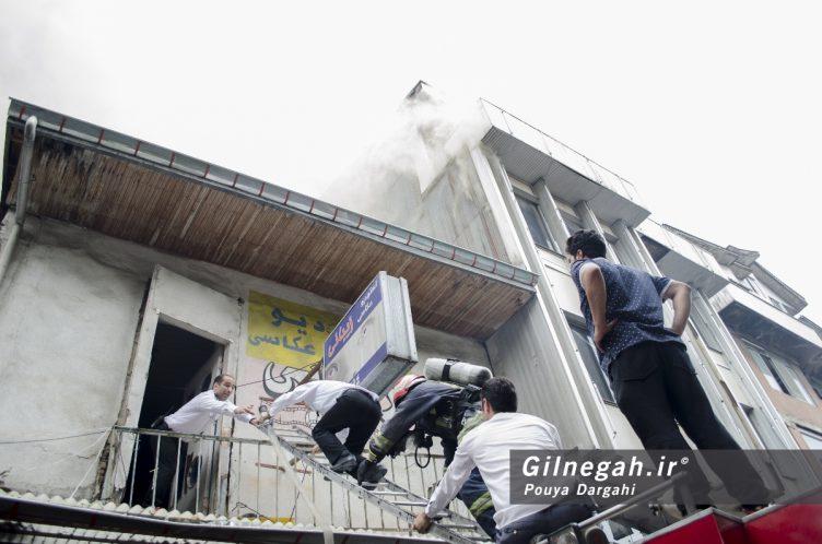 آتش سوزی خیابان شیک رشت بازار (3)