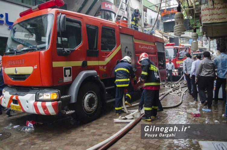 آتش سوزی خیابان شیک رشت بازار (4)