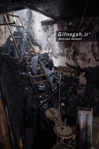 آتش سوزی در خیابان شیک رشت20 تیر (6)