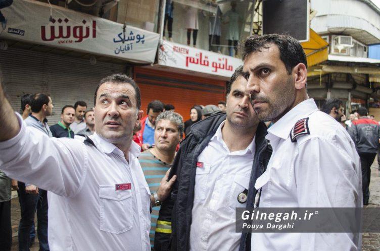 شهرام مومنی معاون آتش نشانی رشت