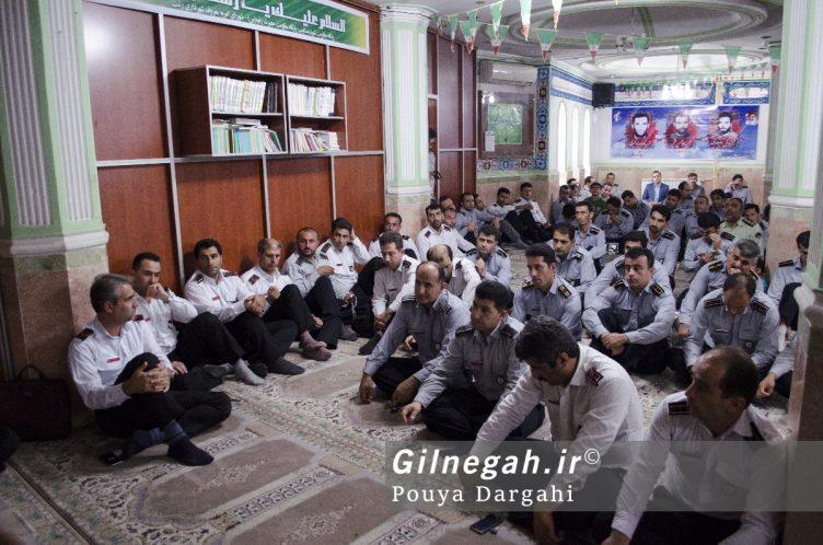مراسم یادبود آتش نشان فداکار شهید علی قانع در رشت (1)