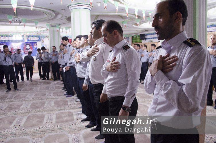 مراسم یادبود آتش نشان فداکار شهید علی قانع در رشت (4)