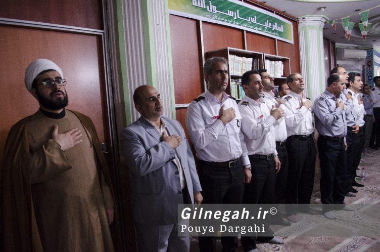 مراسم یادبود آتش نشان فداکار شهید علی قانع در رشت (5)