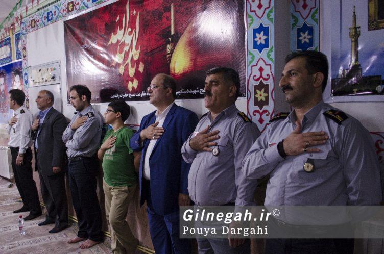 مراسم یادبود آتش نشان فداکار شهید علی قانع در رشت (8)