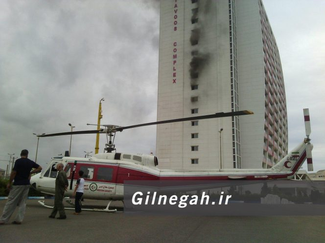 آتش در برج طاووس انزلی (4)