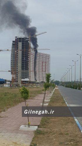 آتش سوزی برج طاووس منطقه آزاد (1)