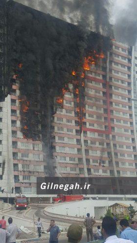 آتش سوزی برج طاووس منطقه آزاد (4)