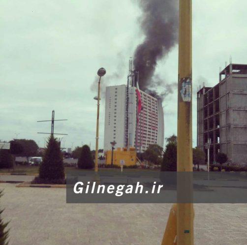 آتش سوزی برج طاووس منطقه آزاد (5)