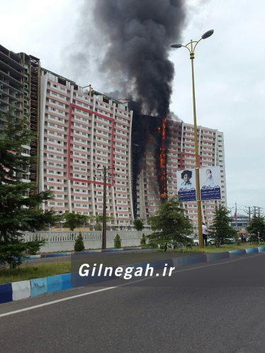 آتش سوزی برج طاووس منطقه آزاد (7)