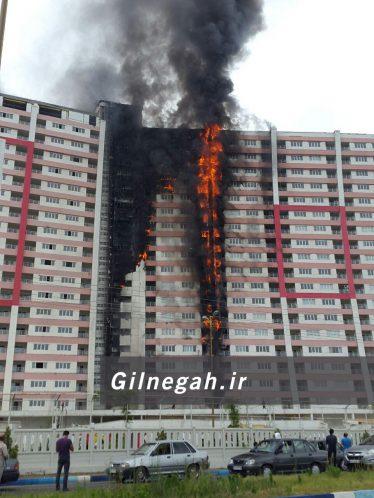 آتش سوزی برج طاووس منطقه آزاد (9)