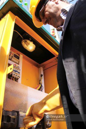 افتتاح پروژه توزیع برق در لنگرود (4)