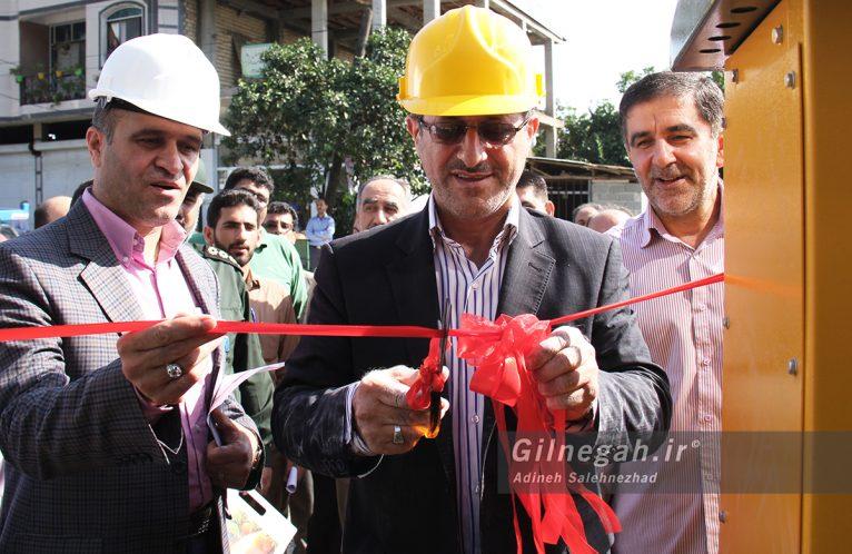 افتتاح پروژه توزیع برق در لنگرود (5)