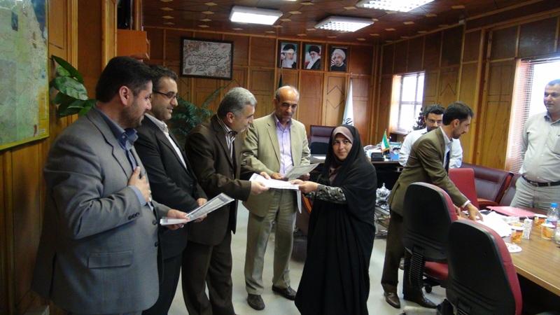 مراسم تجلیل از خبرنگاران در رضوانشهر2