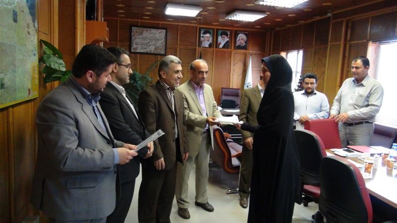 مراسم تجلیل از خبرنگاران در رضوانشهر3