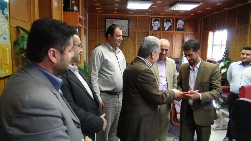 مراسم تجلیل از خبرنگاران در رضوانشهر6