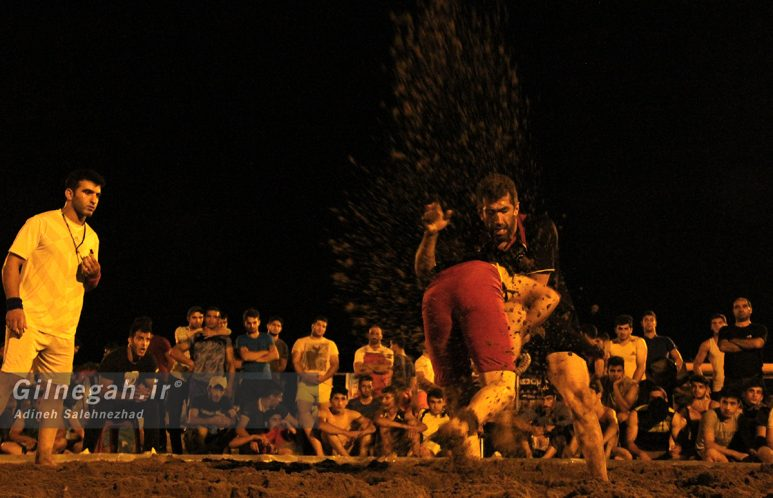 مسابقات استانی کشتی ساحلی گیلان در چمخاله (2)