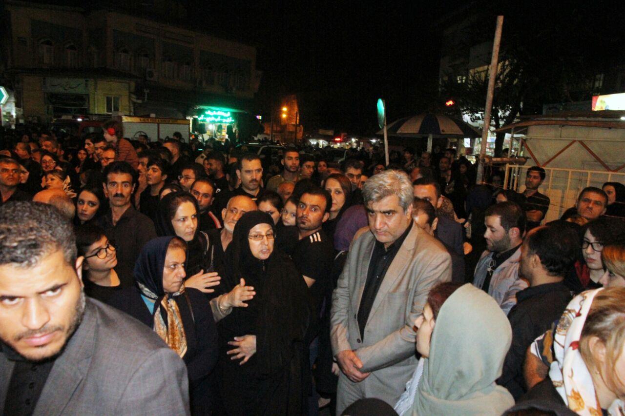 حضور استاندار گیلان در مراسم های عزاداری شب تاسوعای حسینی